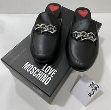 Love Moschino Heart Chain Slip-On Flat Mule