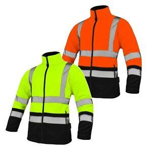 Warnschutz Jacke Fleece Jacke Warnschutzjacke Arbeitsjacke Warnjacke Gr.M - XXXL