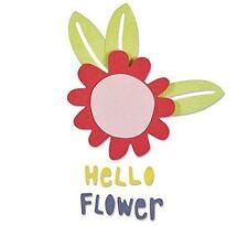 NEW - Sizzix Thinlits Die Set 5PK - Hello Flower