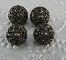 Set of 4 Brass Metal Filligree Acorn Top Design Sewing Buttons 10mm