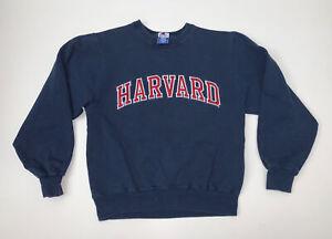Vintage 90s Harvard Champion Crewneck Sweatshirt Adult S/M Blue Spellout