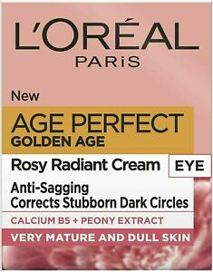 L'OREAL AGE PERFECT GOLDEN AGE EYE CREAM Rosy Radiant Eye Cream 15ml , NEW