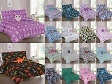 6/8-PC PRINTED COMFORTER BEDDING BED SET FOR KIDS AND TEENS WITH FURRY TEDDY