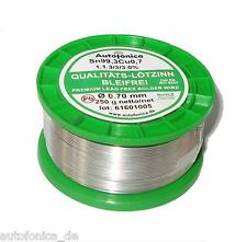 Quality Soldering Tin Lead free 0.0276in 8.8oz According to DIN Sn99Cu1 wire