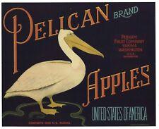 Pelican Vintage Washington Apple Crate Label, Sea Bird, *An Original Label*