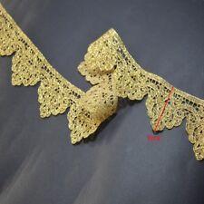 5cm wide 2yds/lot Victorian Antique Gold Lace venise laceTrim in Metallic Gold