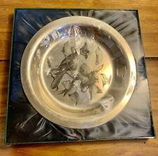 Franklin Mint 925 Sterling The Cardinal Plate Audubon Society