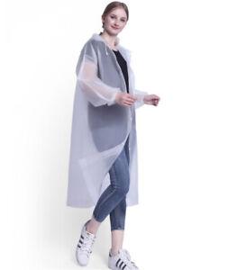 2PCS Adult Rain Waterproof EVA Hooded Coat Raincoat Poncho Lightweight Outwear