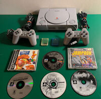 Sony PlayStation 1 PS1 Console (SCPH-7501) 2 Controllers,6 Games,2 Memory Card