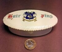 VINTAGE ARCADIAN CRESTED CHINA-OVAL HAIR PIN DISH EARLY 20TH CENTURY