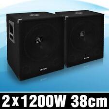 2x DJ AKTIV SUBWOOFER BASS BOX LAUTSPRECHER 1200W SET