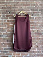 T Alexander Wang Women's Satin Dress, Sz 4 Maroon White Side Stripes