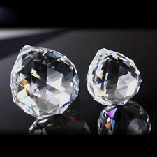 2PCS CRYSTAL CUT GLASS BALL SUN CATCHERS RAINBOW LAMP PRISMS FENG SHUI 30MM AA1