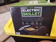 Eco + Chef 7-Inch Non-Stick Electric Skillet with Glass Lid