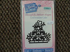 SWEET DIXIE CELEBRATION CAKE CUT EMBOSS STENCIL DIE  FITS MOST MACHINES