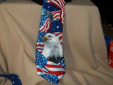 American Flag with Our Eagle Patriotic Tie