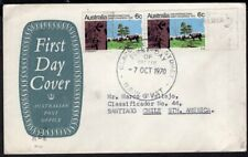 872 AUSTRALIA TO CHILE CIRCULATED FDC COVER 1970 CATLE SYDNEY - SANTIAGO