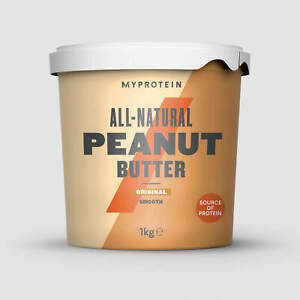 MyProtein Peanut Butter Smooth Crunchy All Natural 1kg ORIGINAL Flavour 1KG