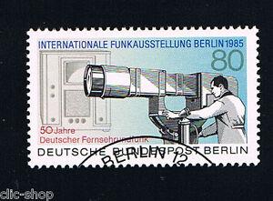 GERMANIA BERLINO BERLIN 1 FRANCOBOLLO RADIO E TELEVISIONE 1985 timbrato