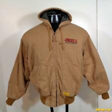 DIAMONDBACK Cotton WORK Hooded Jacket Mens Size M Brown zippered insulated