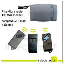 Ricevente radio ricevitore 433 Mhz 2 canali compatibile Casali Geniius