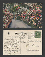 1911 LINCOLN PARK CONSERVATORY CHICAGO ILL POSTCARD