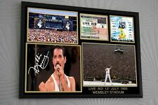 More details for freddie mercury live aid signed a4 tribute memorabilia gift