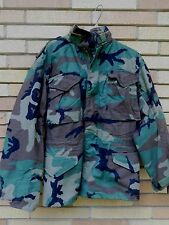 Vintage Military M65 Cold Weather COAT CAMO Jacket size XS Alpha Industries
