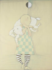 """""""Boy With Lamb"""" By Graciela Rodo Boulanger Signed LE #145/150 Lithograph w/ COA"""