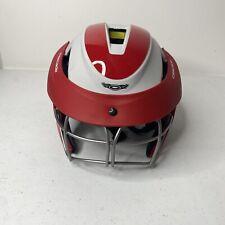 Cascade LX Women's Lacrosse Headgear, Red Helmet with Eye Guard Size Adjustable