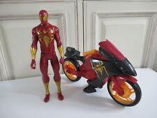 🍓 Figurine Avec Moto Spider-Man Sinister 6 Iron Spider Marvel 2014 Hasbro