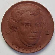Medaille 500 jähr. Geburtstag Martin Luther 1983 Porzellan Meißen Deutschland sf