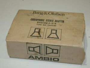 BOXED, BANG & OLUFSEN AMBIOPHONIC STEREO ADAPTOR SYSTEM 2 - 2 - 4