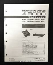 Original Yamaha A3000 Professional Sampler Service Manual