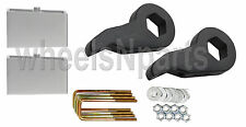 "Lift Kit Chevy Black Torsion Keys 4"" Aluminum Blocks 99-06 Silverado Sierra 4x4"