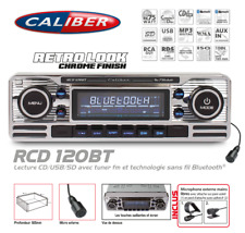 Autoradio Vintage Look Retro Chromé CD/USB/SD Bluetooth Caliber