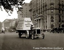 A Fordson Tractor in a Parade - 1922 - Historic Photo Print