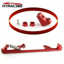 Red Aluminum Throttle Cable Carb Bracket Kit For Holley 4150 4160 Carburetor