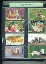 JAPAN USED PHONE CARDS * 8 PCS CATS # JP29