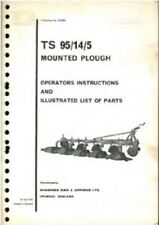 RANSOMES MOUNTED PLOUGH TS95 OPERATORS MANUAL & ILLUSTRATED PARTS - TS 95