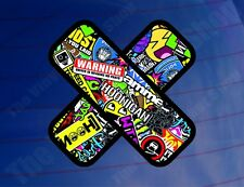 PLASTER STICKER BOMB Colour Car/Van/Bike/Window/Bumper/Laptop Printed Sticker