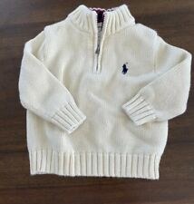 Ralph Lauren Polo Infant/toddler 1/4 Zip Knit Pullover Sweater - Size 12 Months