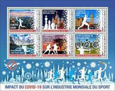 More details for djibouti 2021 mnh corona stamps sports tokyo 2020 olympics tennis chess 6v m/s