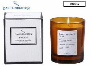 Daniel Brighton Caramel & Vanilla Palace Soy Candle 200g NEW FREE SHIPPING