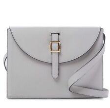 MWT meli melo Thela Prep Spex Medium Shoulder Bag Cement Gray Leather Blue Box