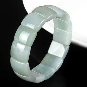 Natural Grade A Jade (jadeite) 18mm Green Bead Bracelet Blessing 21cm L