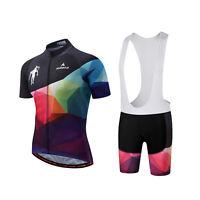 Men's Cycling Clothing Set Bike Clothes Short Sleeve Jersey Bib Shorts Kit S-5XL