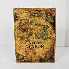 "Map Book Box/Hollow 9"" Atlas Maior Wood"