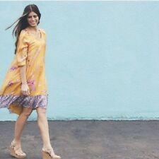 Anthropologie Vanessa Virginia Rainforest Silk Dress XS Floral Bloggers Favorite