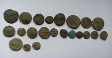 DIVERSE LOT OF 22 ANCIENT GREEK BRONZE COINS /400-150 BC/